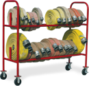 fire hose mobile storage racks